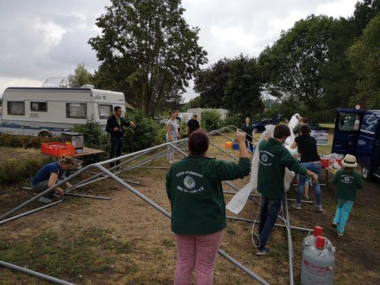 """nach 4 schönen Tagen heißt es leider wieder """"Zelt abbauen"""""""